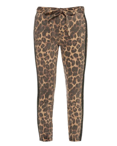 Leopard Pant with Sash