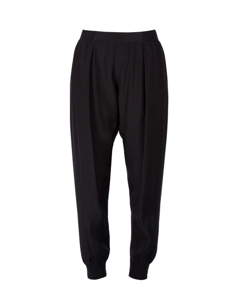 Woven Pull On Silk Pants