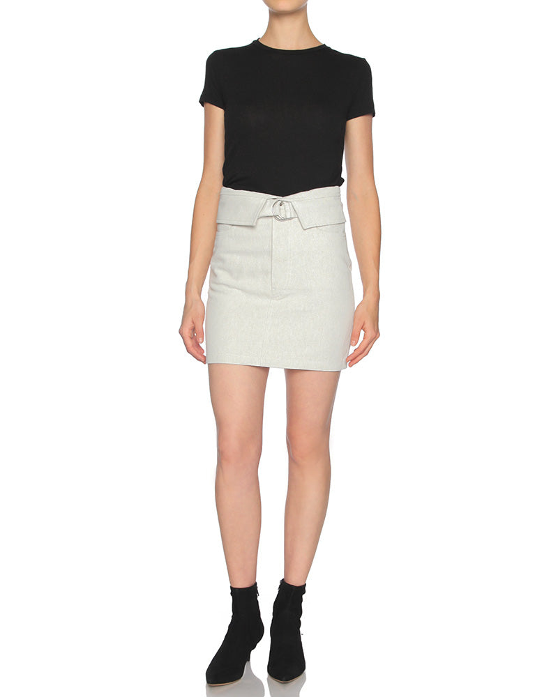 Pisarla Belted Mini Skirt