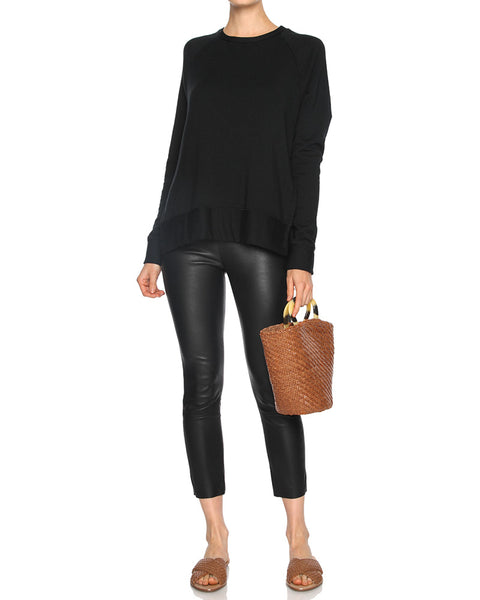 Fleece Side Slit Sweatshirt