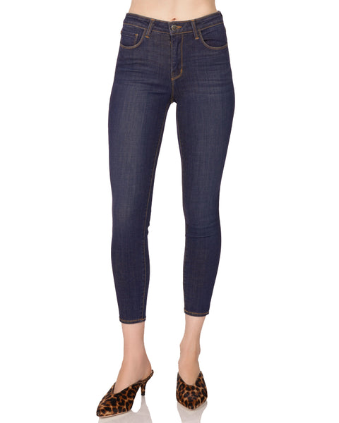 Margot High Rise Crop Jean in Prime Blue Vintage