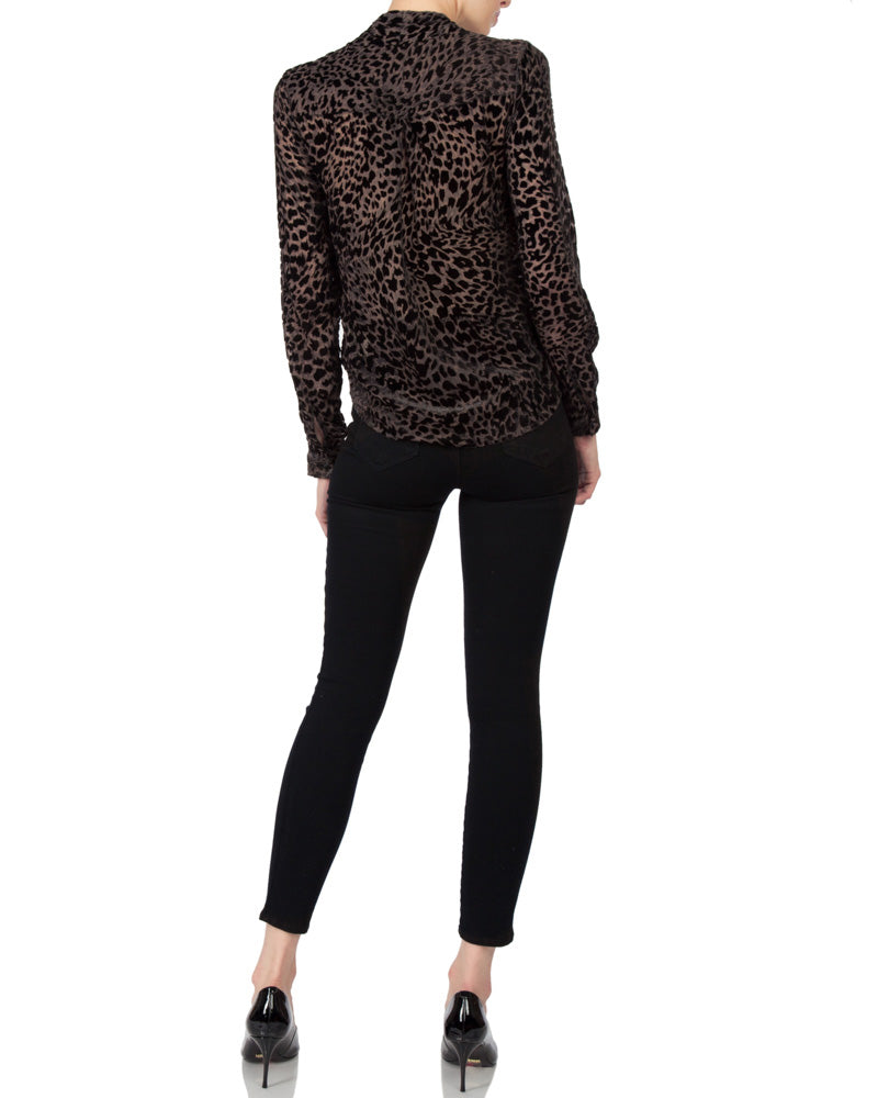 Lydia Long Sleeve Front Blouse