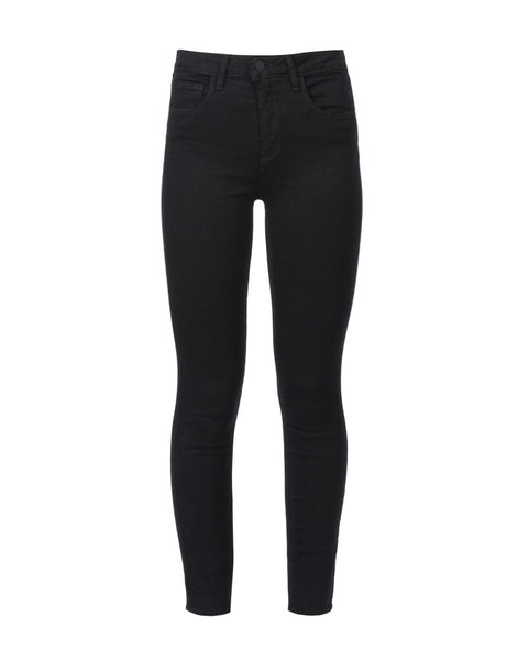 Margot High Rise Crop Jean in Noir