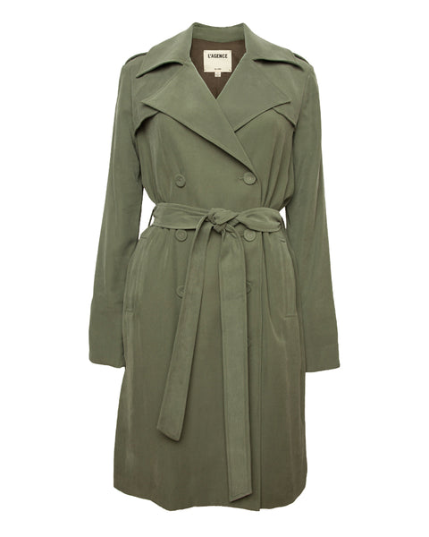Elise Belted Trench Dress