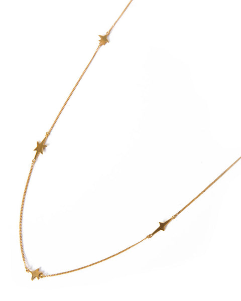 Yellow Gold Layering Star Necklace