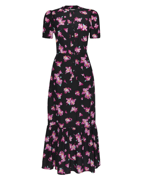 Dylan Floral Flounce Midi Dress