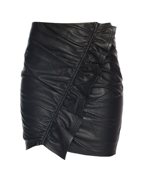 Jupiter Leather Mini Skirt