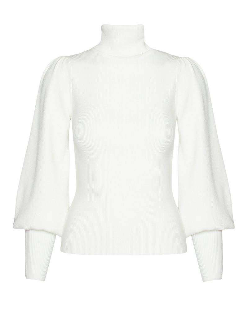 Karla Puff Sleeve Turtleneck