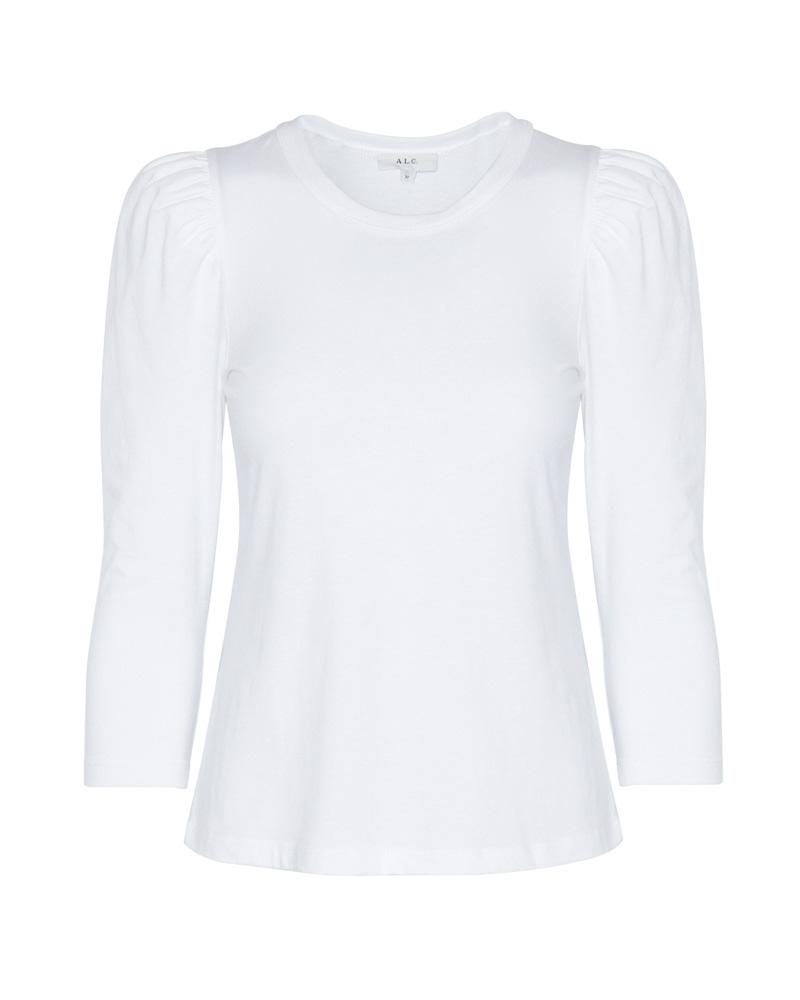 Karlie Puff Shoulder Tee in White