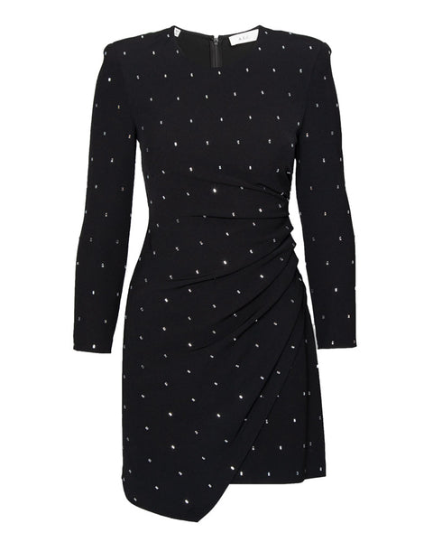 Lana Studded Long Sleeve Mini Dress