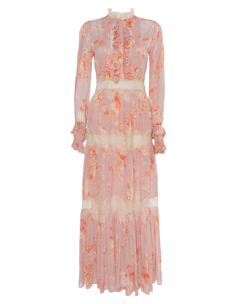 Armada Long Sleeve Floral Maxi Dress