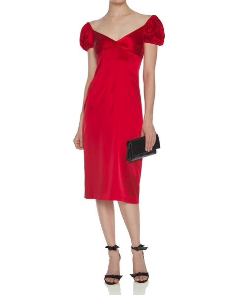 Cadiz Off the Shoulder Midi Dress