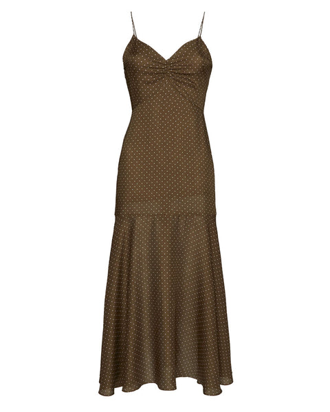 Nizarra Dot Print Slip Dress