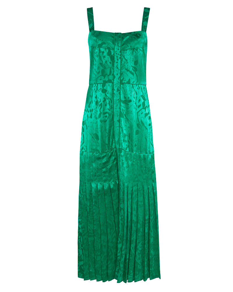 Oraina Sleeveless Jacquard Midi Dress