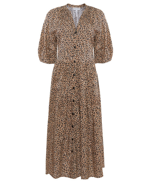 Mitte Leopard Print Midi Dress- EXTRA 10% OFF AT CHECKOUT