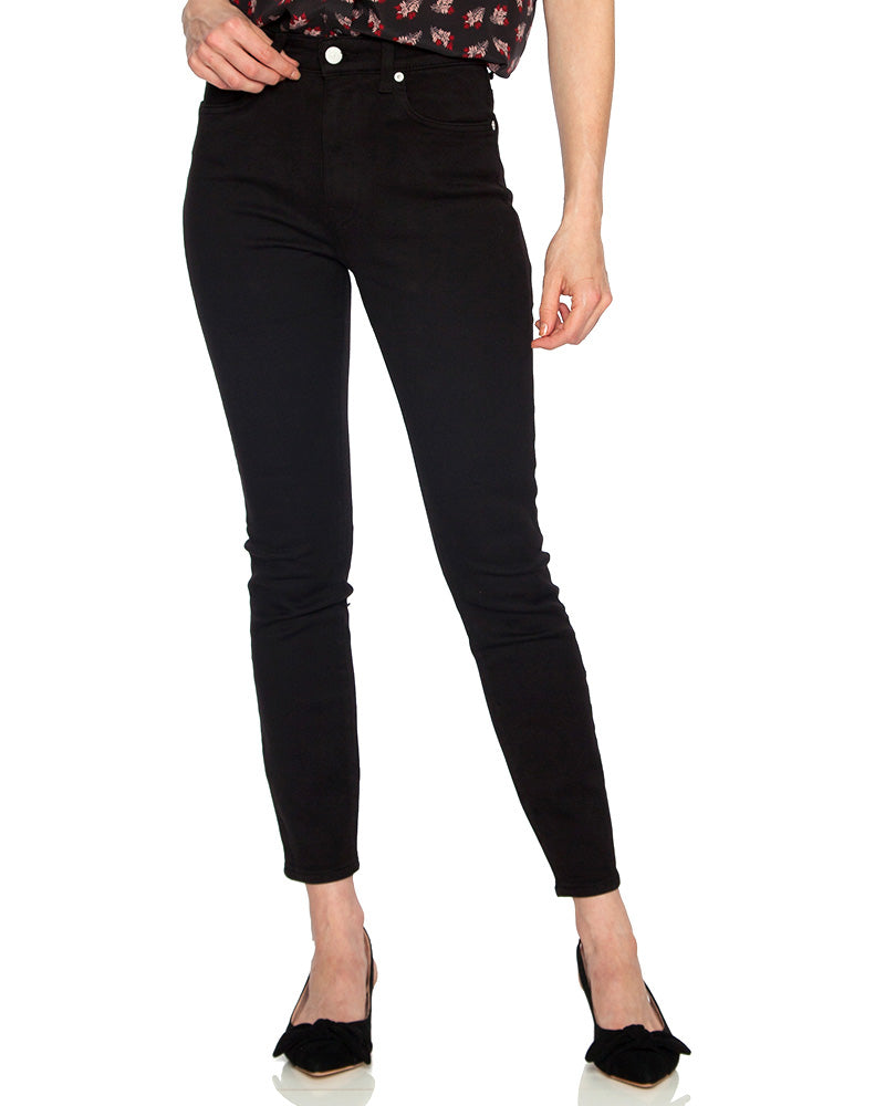 Palme High Rise Skinny Jeans in Black