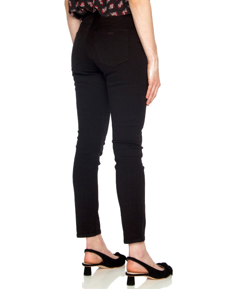 Palme High Rise Skinny in Black