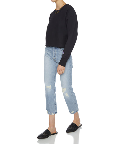 Cropped Crewneck Sweatshirt