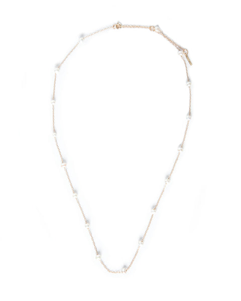14K Gold Plated White Freshwater Pearl Necklace