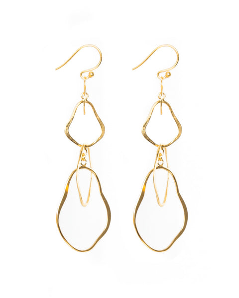 18k Gold Plated Interlocking Matisse Earrings