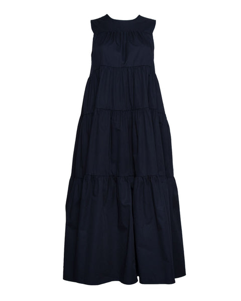 Sleeveless Tiered Dress in Navy