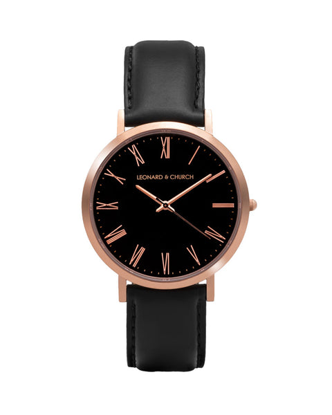 Crosby Black/Rose Gold/Black