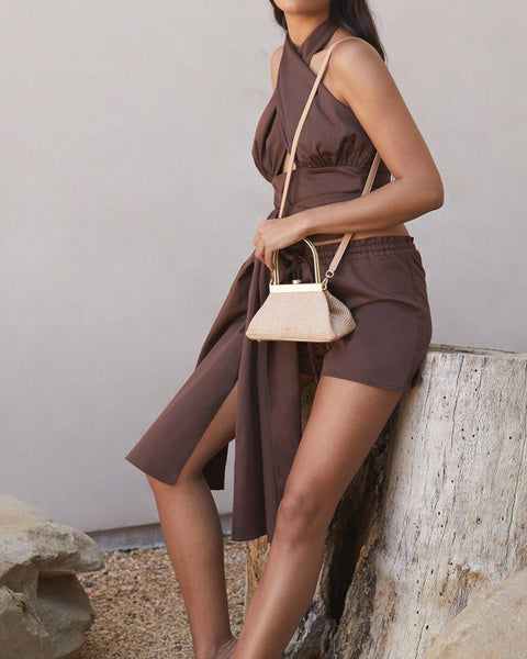 Estelle Mini Crossbody Bag in Natural Tan