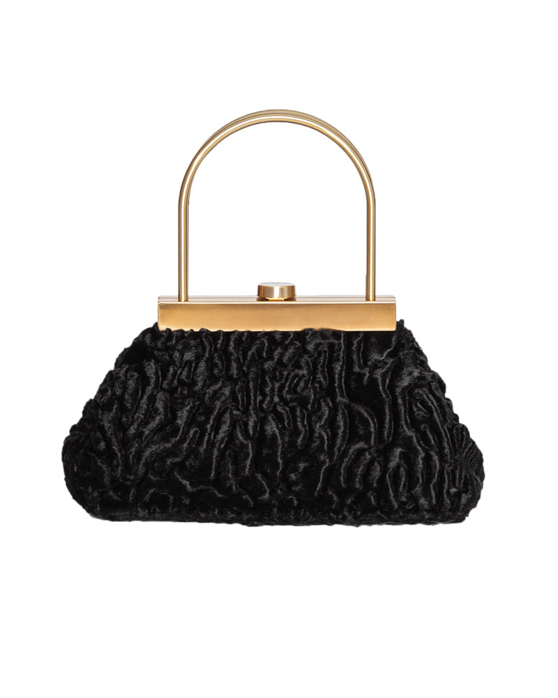 Estelle Mini Faux Fur Top Handle Bag