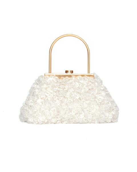 Estelle Mini Faux Shearling Top Handle Bag