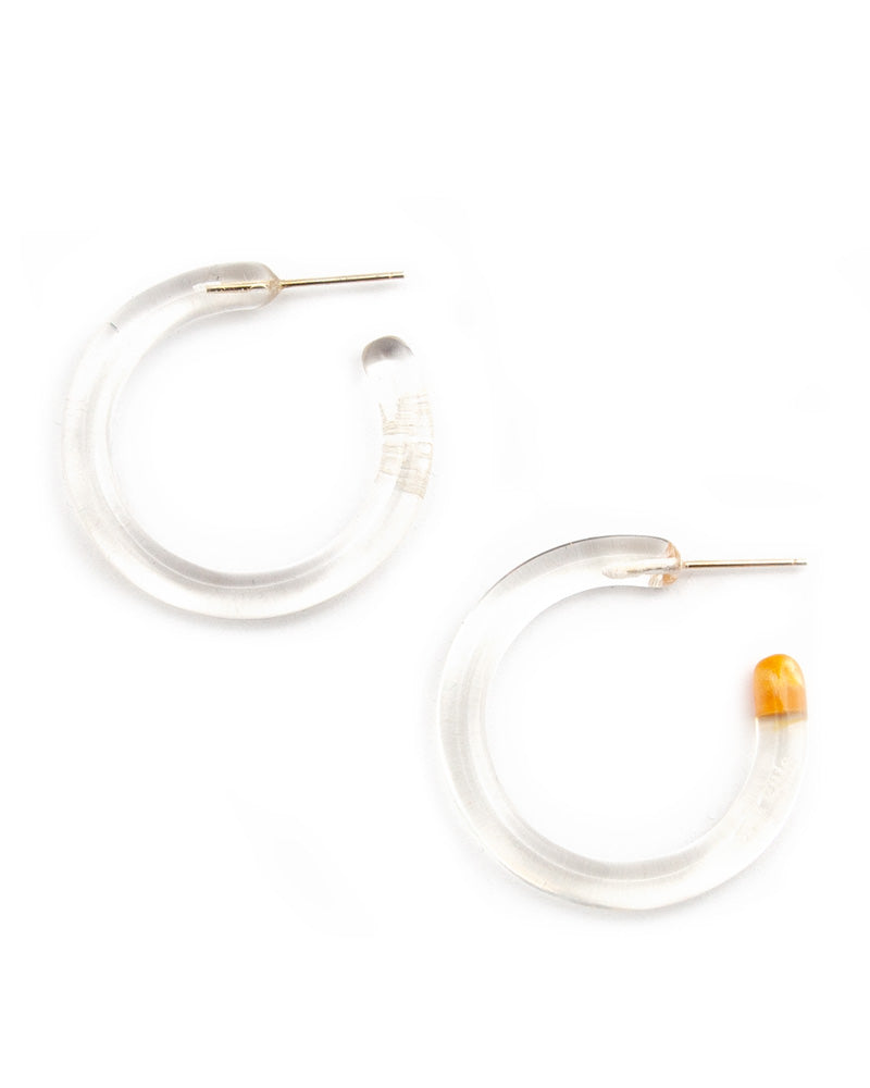 Rhea Acrylic Hoop Earrings