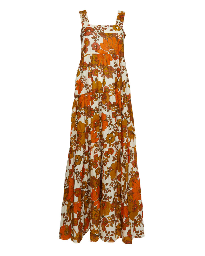 Lima Floral Cotton Maxi Dress