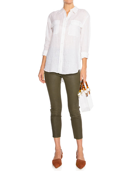 Signature Linen Shirt Bright White