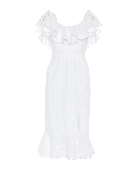 Ella Cotton Ruffle Dress