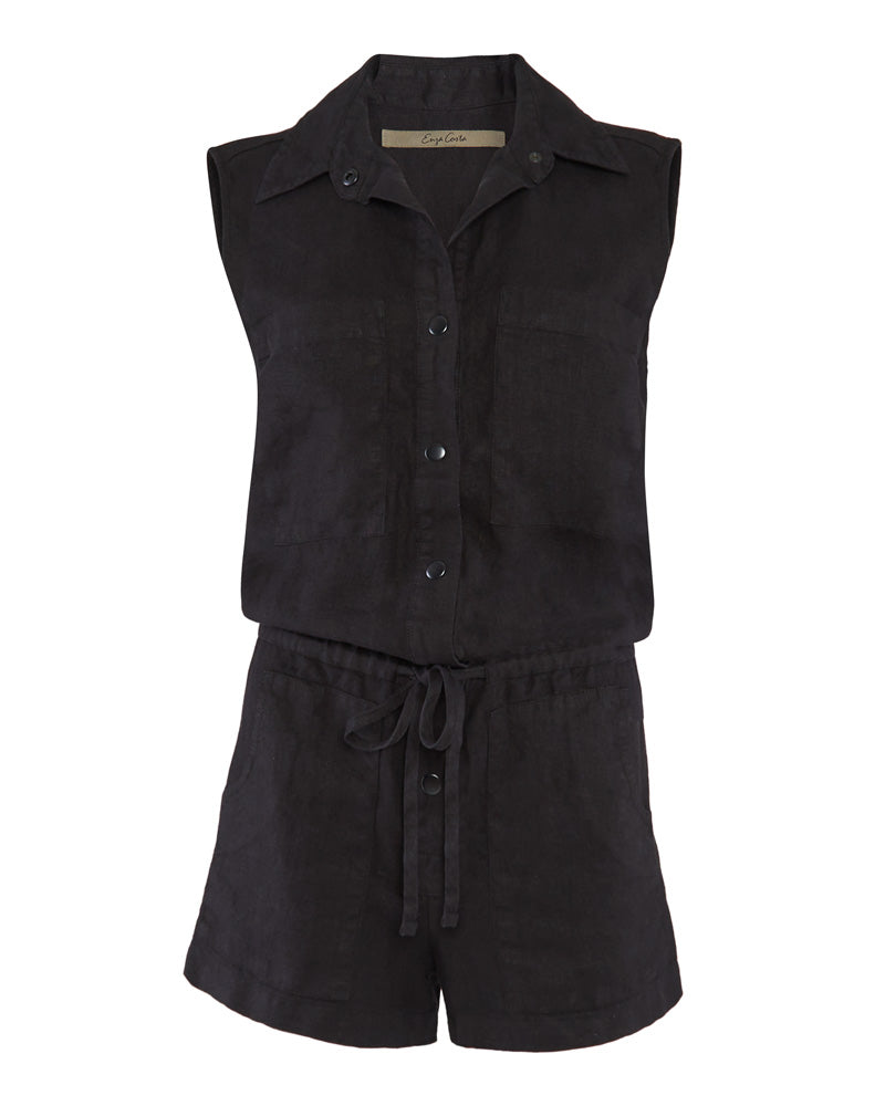 Hemp Sleeveless Romper