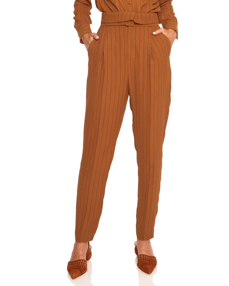 Alloisa Belted High Waist Trousers