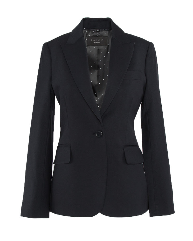 Burelle One Button Wool Blazer