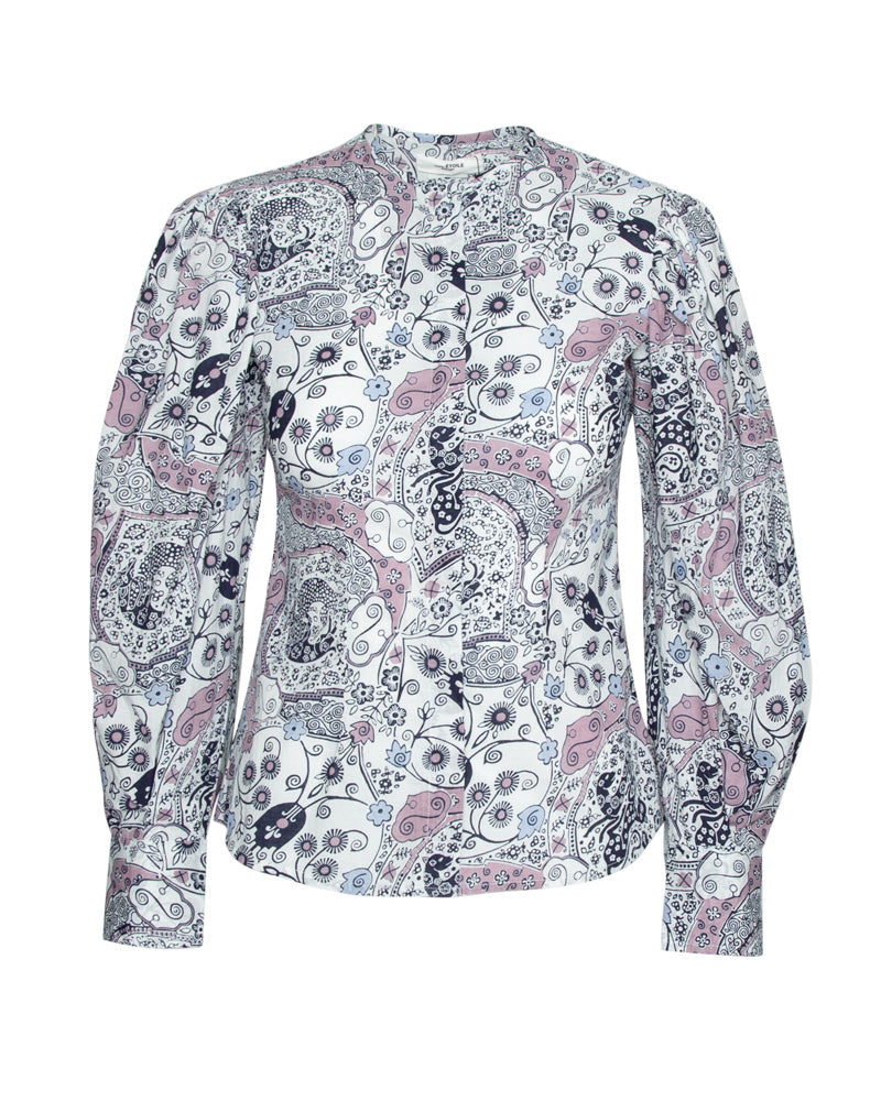 Unatil Printed Blouson Sleeve Top