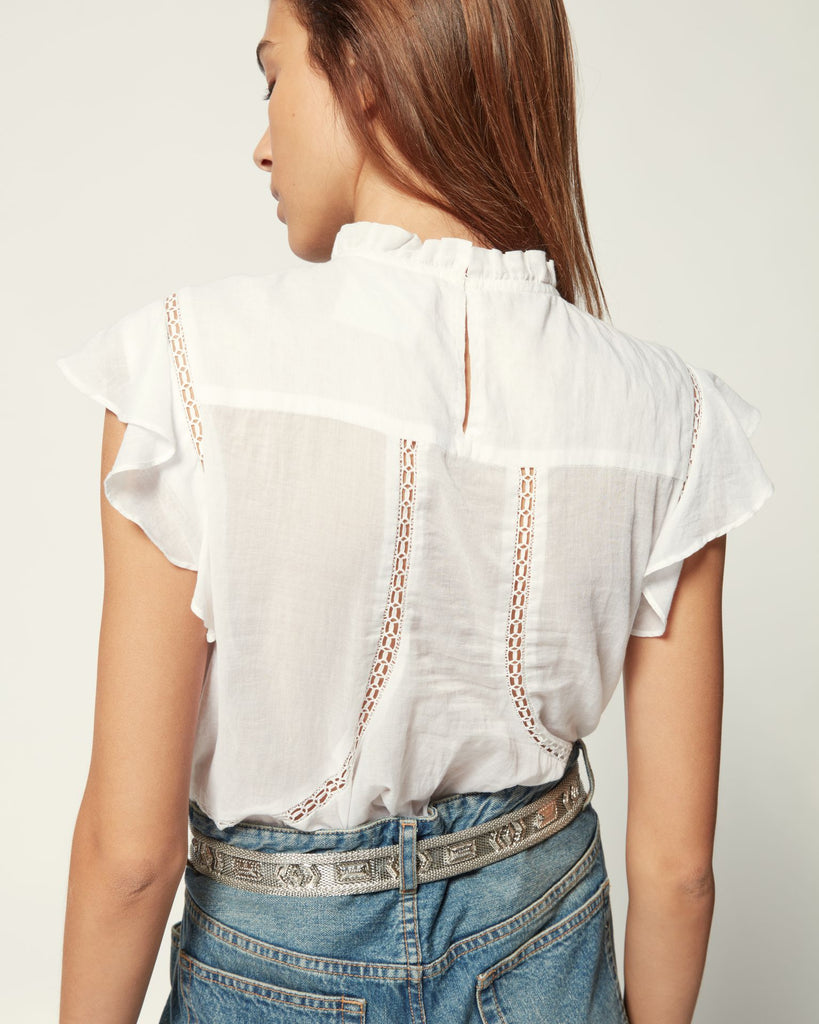 Vivia Sleeveless Blouse in White