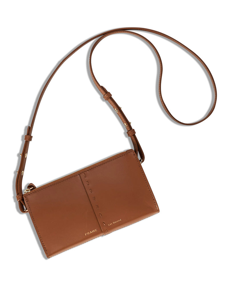 Les Second Crossbody Wallet in Tobacco