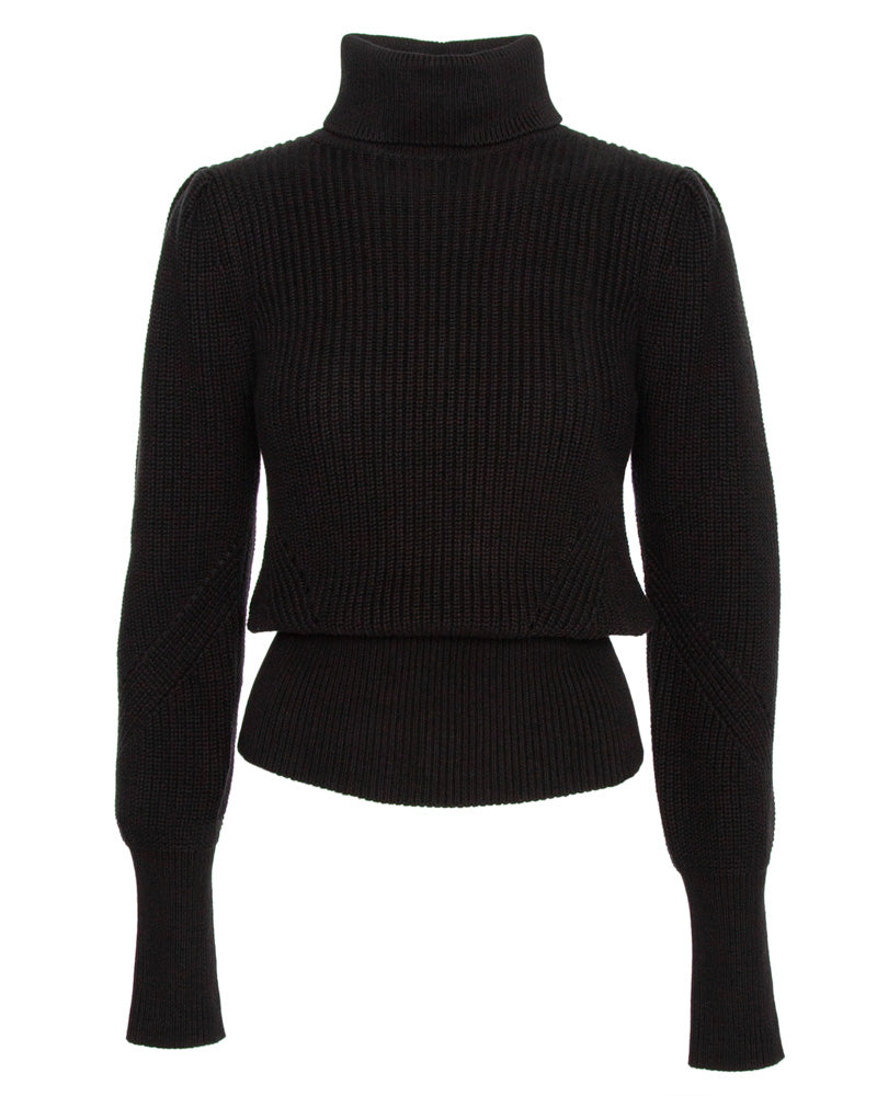 Moving Ribs Turtleneck