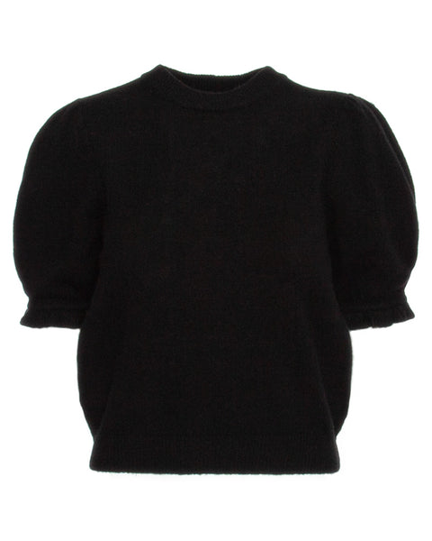 Shirred Short Sleeve Sweater