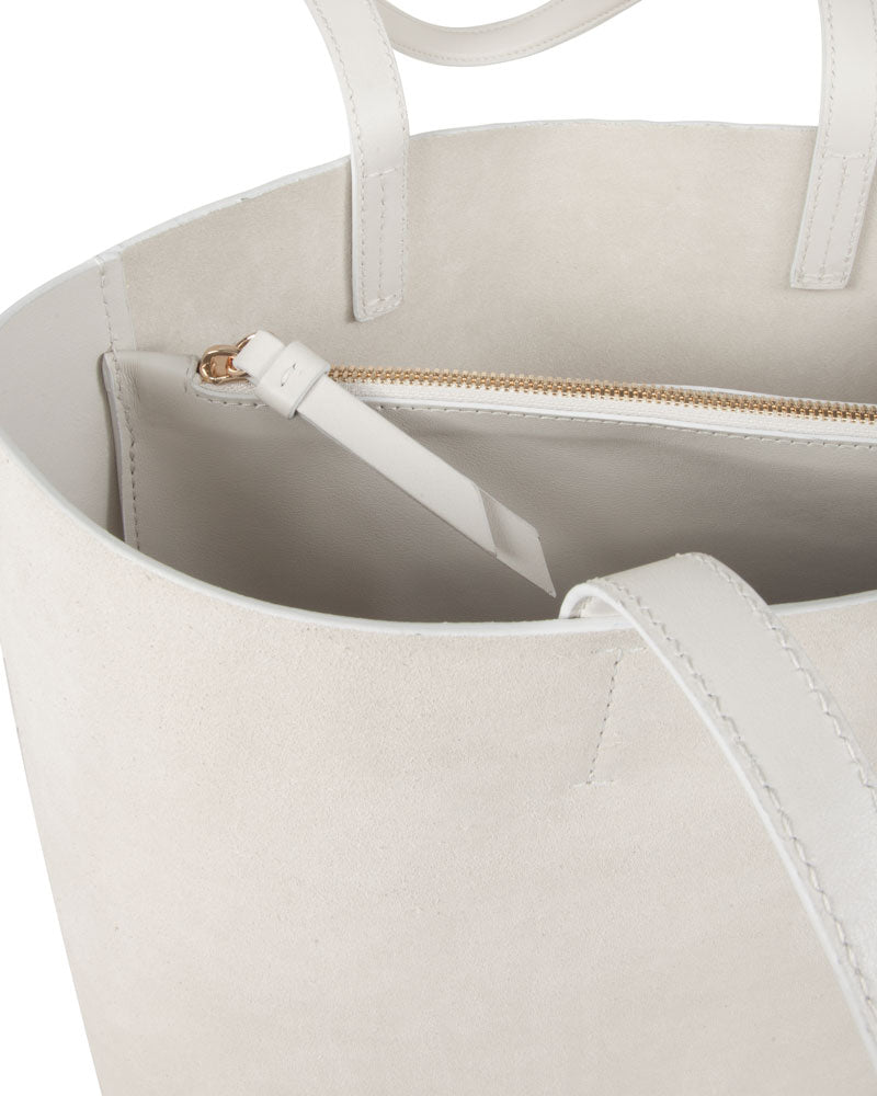 Simone Suede Leather Tote Bag