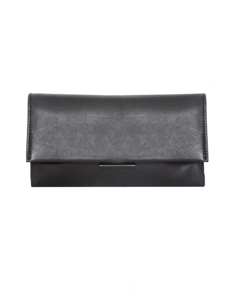 Tab Leather Clutch