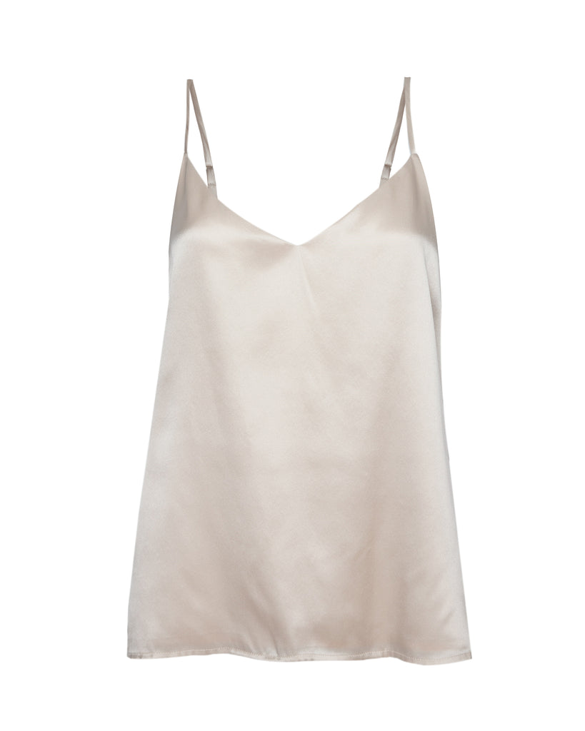 Jane Spaghetti Strap Top in Champagne