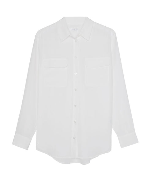 Signature Silk Shirt in Nature White