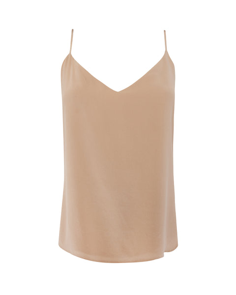 Jane Spaghetti Strap Top in Sesame