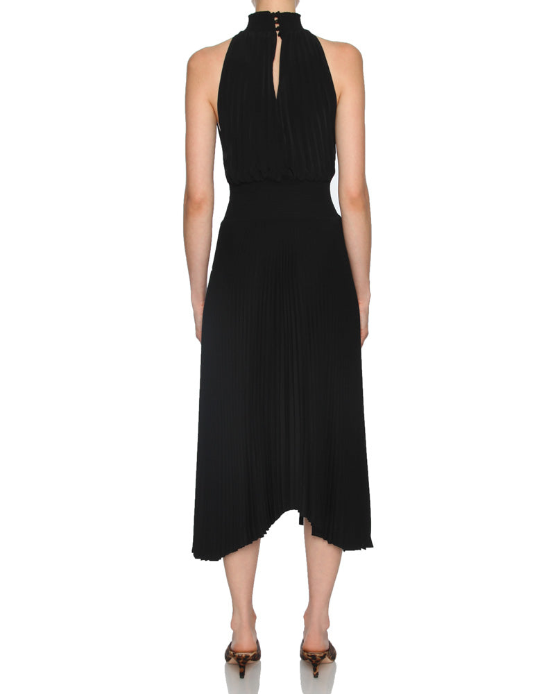 Renzo Pleated Sleeveless Dress