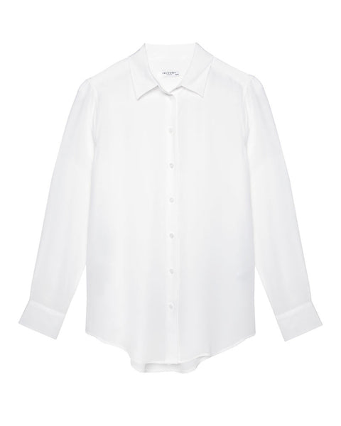 Essential Silk Shirt in Bright White