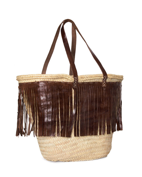The Fes Leather Fringe Grande Bag