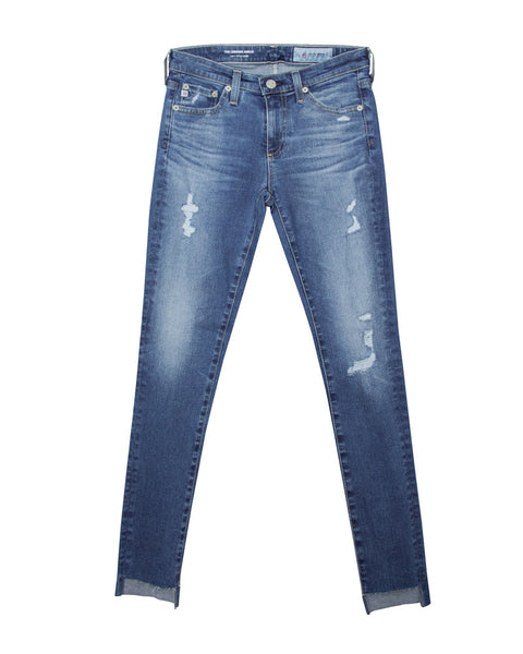 The Legging Ankle Distressed Step Hem Jean 14 Years Radiant Blue